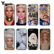 Yinuoda RuPaul's Drag Race Black Soft Silicone Cover Case Luxury Cell Phone Cases For Iphone X 8 8plus 7 7plus 6plus 6s Xs XR