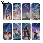 Yinuoda Cover Case For Iphone XS XR XS Max Your Name Anime Ultra Thin Soft Silicone Case For Iphone 7 7plus X 8 8plus 6s 6s Plus