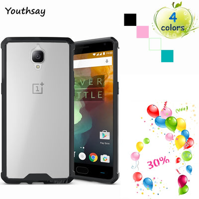 Youthsay For Cases Oneplus 3t Case A3000 Transparent TPU Armor Cover For Oneplus 3t Case For Oneplus 3 Phone Cover 5.5 Inch <
