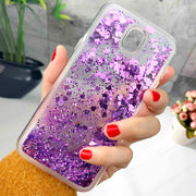 ZFTANG For Samsung J7 2017 Case Silicone Glitter Liquid Case For Samsung Galaxy J7 2017 J730 Case Cover Soft TPU Phone Cases
