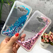 ZFTANG Glitter Liquid Case For Samsung Galaxy J3 2016 Case Silicone Soft TPU Phone Cases For Samsung J3 2016 Case Back Cover
