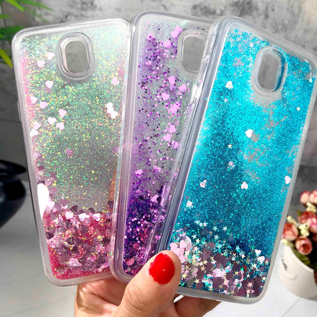 ZFTANG Glitter Liquid Case For Samsung Galaxy J5 2017 Case Silicone Soft TPU Phone Cases For Samsung J5 2017 J530 EU Case Cover