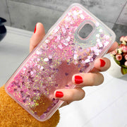 ZFTANG Glitter Liquid Case For Samsung J3 2017 Case Silicone Soft TPU Phone Cases For Samsung Galaxy J3 2017 J330 EU Case Cover