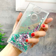 ZFTANG Glitter Liquid Case For Sony Xperia XA2 Case Silicone Soft TPU Quicksand Phone Cases For Coque Sony Xperia XA2 Case Cover