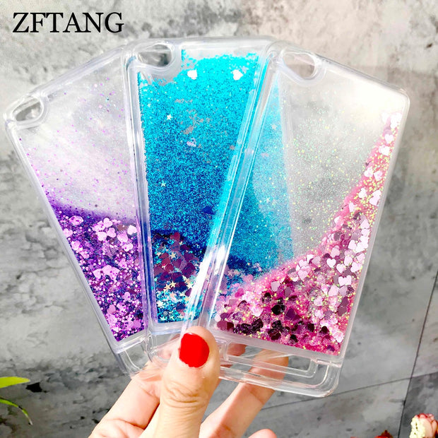 ZFTANG Glitter Liquid Case For Xiaomi Redmi 4A Case Silicone Soft TPU Phone Cases For Coque Xiaomi Redmi 4A Pro Prime Case Cover
