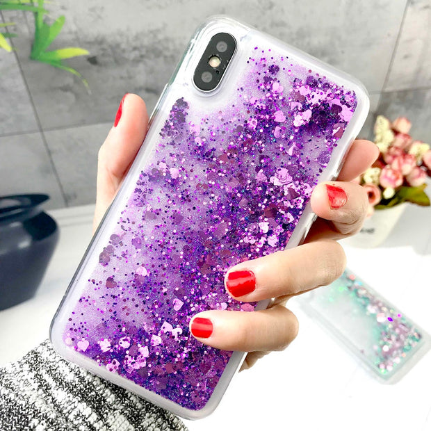 ZFTANG Glitter Liquid Case For Iphone XS Max XR X 8 7 Case Silicon Soft TPU Phone Cases For Iphone 7 8 6 6S Plus X XS Case Cover