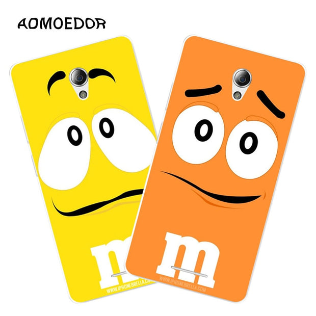 ZTE Blade A110 Case,Silicon Letter Expression Painting Soft TPU Back Cover For ZTE Blade A110 Phone Fitted Bags Shell