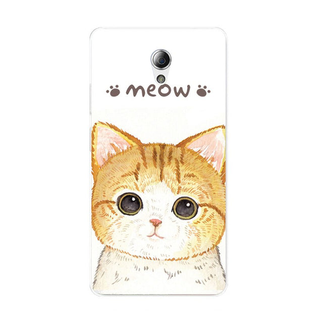 ZTE Blade A110 Case,Silicon Look Cat Painting Soft TPU Back Cover For ZTE Blade A110 Phone Protect Bags Shell