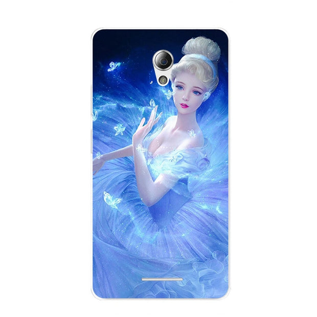 ZTE Blade A110 Case,Silicon Lovely Kitten Painting Soft TPU Back Cover For ZTE Blade A110 Phone Protect Bags Shell