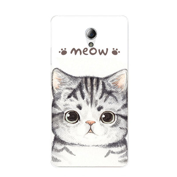 ZTE Blade L110 Case,Silicon Look Cat Painting Soft TPU Back Cover For ZTE Blade L110 Phone Fitted Bags Shell