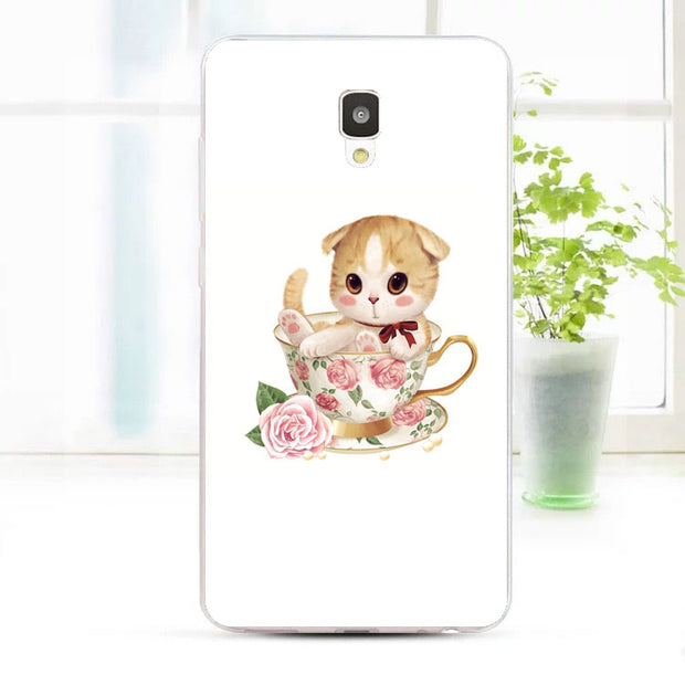 ZTE Blade L5 Plus Case,Silicon Bubble Cat Painting Soft TPU Back Cover For ZTE Blade L5 Plus Phone Fitted Bags Shell