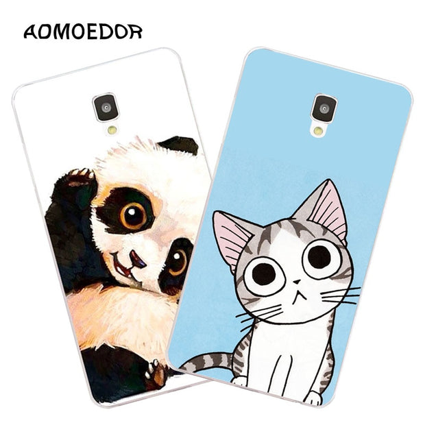 ZTE Blade L5 Plus Case,Silicon Lovely Kitten Painting Soft TPU Back Cover For ZTE Blade L5 Plus Phone Fitted Bags Shell