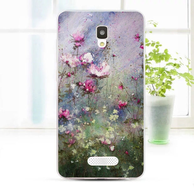 ZTE Blade L5 Plus Case,Silicon Flowers 3D Relief Painting Soft TPU Back Cover For ZTE Blade L5 Plus Phone Fitted Bags Shell
