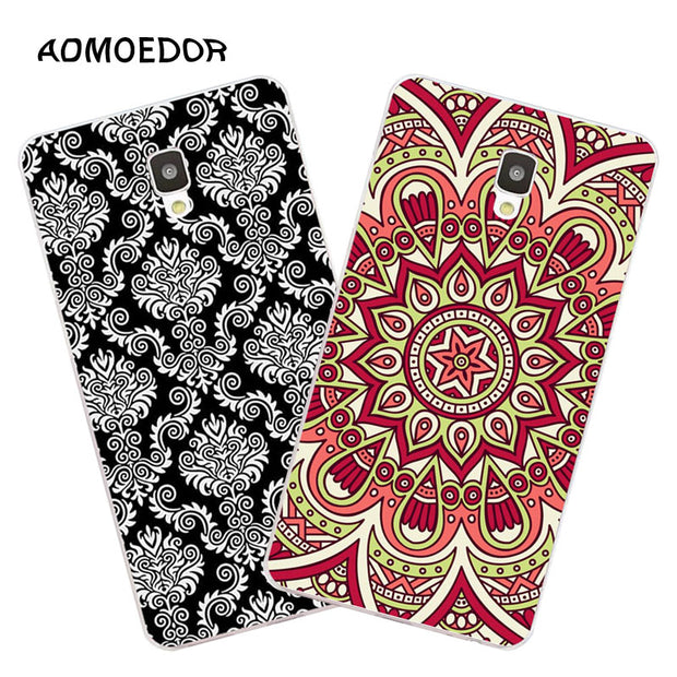 ZTE Blade L5 Plus Case,Silicon Mandala Cartoon Painting Soft TPU Back Cover For ZTE Blade L5 Plus Phone Fitted Bags Shell