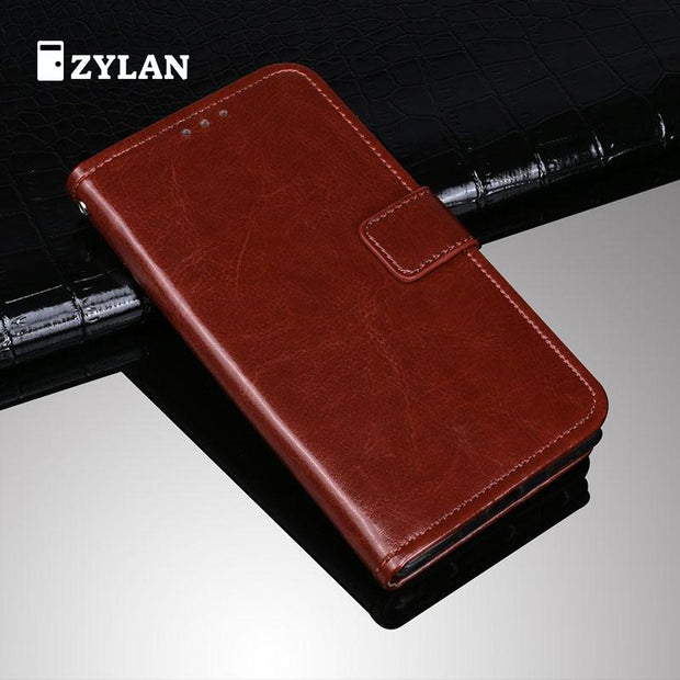 ZYLAN 100 % New Leather Phone Case Ultra Thin Wallet Case Flip Cover For Oppo F1S Oppo A59 A59s A59m & FREE GIFT