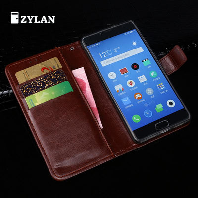 ZYLAN Brand For Meizu Meilan 5 Meizu M5 Case Flip Leather Stand Case For Meizu Meilan 5 Book Style Cover 5.2'' & Gift