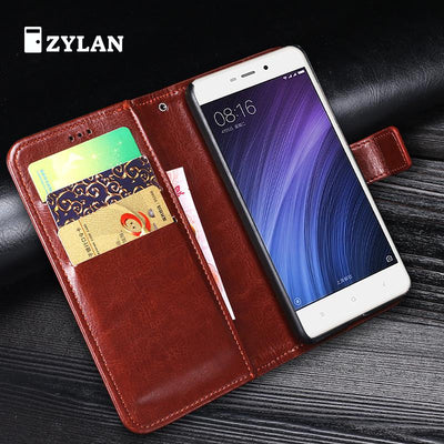 ZYLAN Case For Xiaomi Redmi 4A Cases Cover Flip Wallet Conque Case 5.0 Inch For Xiaomi Redmi 4A Stand Leather Business /w Gift