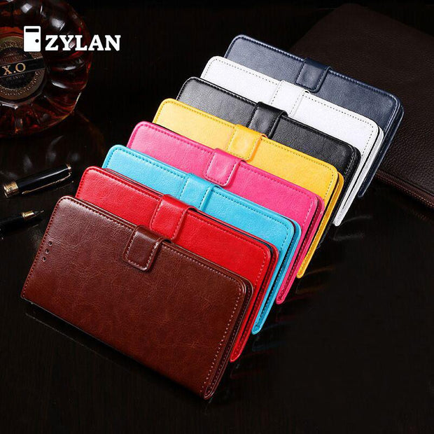 ZYLAN Case For Xiaomi Redmi 5A Flip Cover Wallet Retro Leather Stand Card Slot Case Cover Redmi 5A + Stylus +Rope