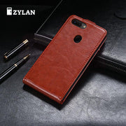 ZYLAN Case Luxury Flip Cover Vintage Leather With Stand Card Slot Cases For Oppo R15 Pro Coque Funda Capa & GIFT