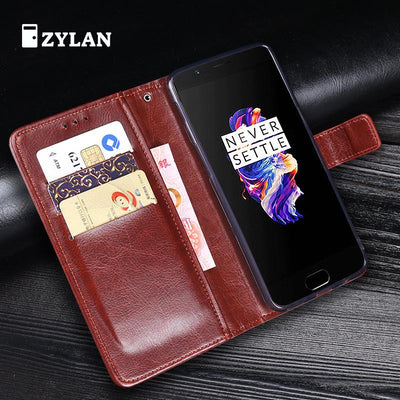 ZYLAN Cover Case For Oneplus 5 One Plus Cases Leather Original Business Conque Case 5.5 Inch For Oneplus 5 & Pen & Strap