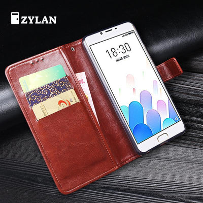 ZYLAN Flip Case For Meizu E2 M2E Case For Meizu E2 M2E Leather Case Covers Wallet Case Bags For Meizu Meilan E2 & Gift
