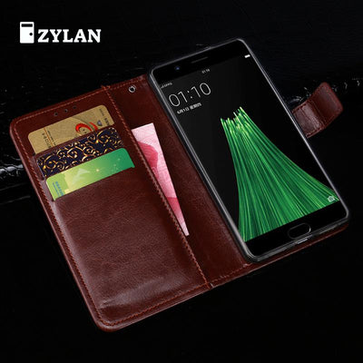 ZYLAN Flip Fundas For OPPO R11 Case Cover Leather Luxury Ultra Thin Wallet Phone Case For OPPO R11 Plus Case Men & FREE GIFT
