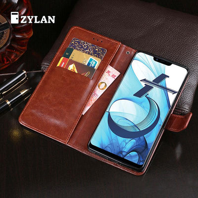 ZYLAN For Coque OPPO AX5 Case Wallet Flip Leather TPU Back Skin Stand Capa For OPPO AX5 Fundas Pouch Bag Cover & FREE GIFT