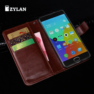 ZYLAN For Meizu M2 Mini Case Cover Business Luxury Flip Leather Stand Case For Meizu M2 Mini Wallet Phone Bag Case & Free Gift