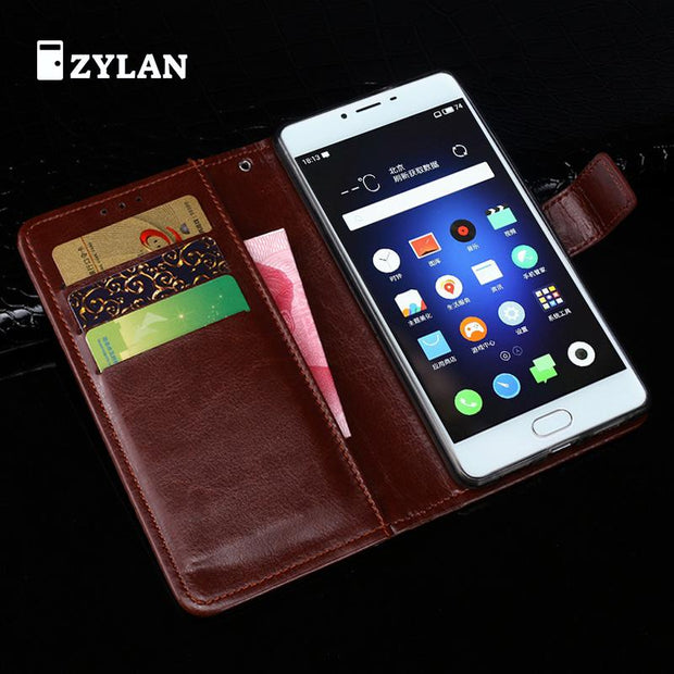 ZYLAN For Meizu U10 Case Luxury Wallet Leather Phone Case For Meizu Metal U10 Flip Protective Back Cover Bag Skin /w Gift