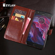ZYLAN For Motorola Moto X4 Case Luxury Business Leather Back Cover Soft TPU Leather Shell Phone Cases For Moto X4 & GIFT