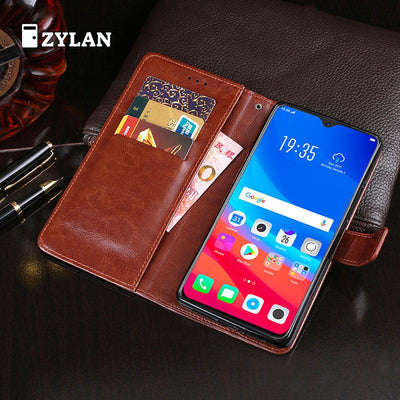 ZYLAN For OPPO F9 Pro Case 6.3 Inch Luxury Flip Wallet Leather Case For OPPO F9 Pro Fundas Magnetic Phone Bags Cover + GIFT