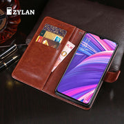 ZYLAN For OPPO R17 Pro Case Luxury Flip Wallet Leather Case For OPPO R17 Pro Fundas Magnetic Phone Bags Cover + FREE GIFT