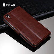 ZYLAN For OPPO R9 Plus Case Luxury Leather Cover For OPPO R9 Plus Case Flip Protective Phone Case Back Cover Skin Bag + GIFT