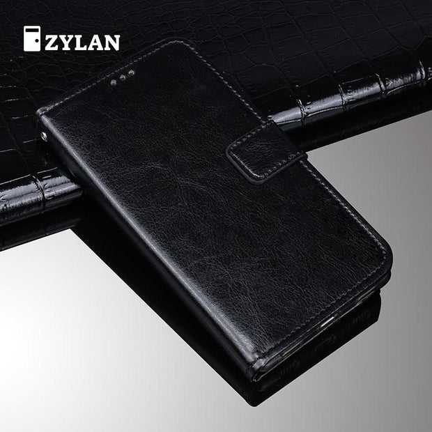 ZYLAN For Oneplus 6T Case Retro Wallet Stand Flip Leather Case Cover For Oneplus 6T A6013 Back Case Cover Kickstand & FREE GIFT