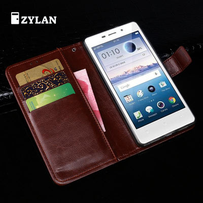 ZYLAN For Oppo Joy 3 Case Colors High Quality Business Wallet Flip Leather Protective Cover For Oppo A11w Cover + FREE GIFT