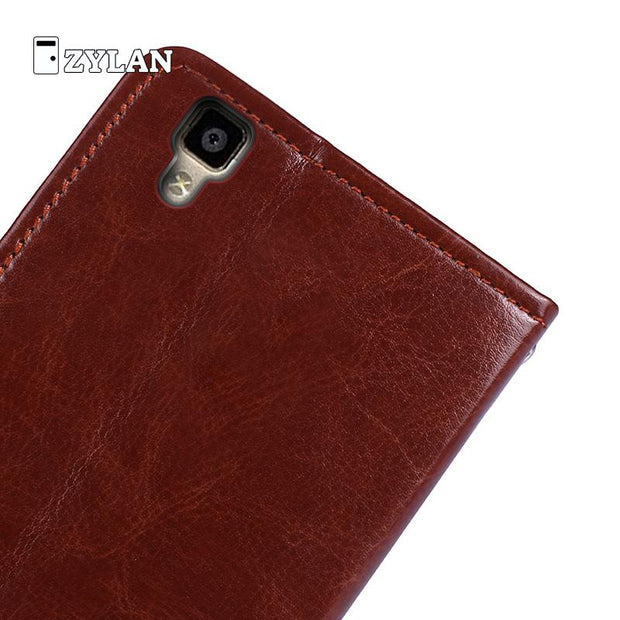 ZYLAN For Oppo R7s Quality Leather Stand Cover Luxury Cell Phone Leather Case Funda For Oppo R7s R7 S Bag Shell Skin Oppo R7s
