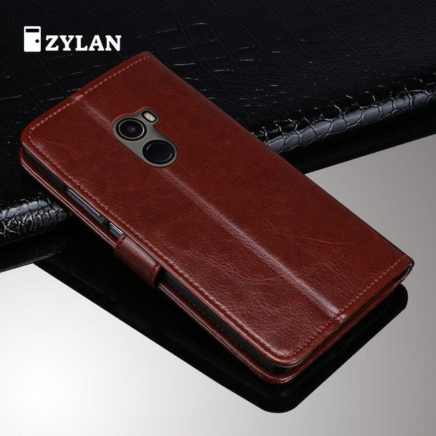 ZYLAN For XIAOMI Mix 2 Case Business Flip Leather Shockproof Phone Case For Xiaomi Mix 2 Mix2 Case Coque & Rope & Stylus