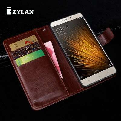 ZYLAN For Xiaomi Redmi 3x Case Cover Luxury Leather Bags For Xiaomi Redmi 3x Ultra Thin Business Wallet Phone Bags Case +Gift