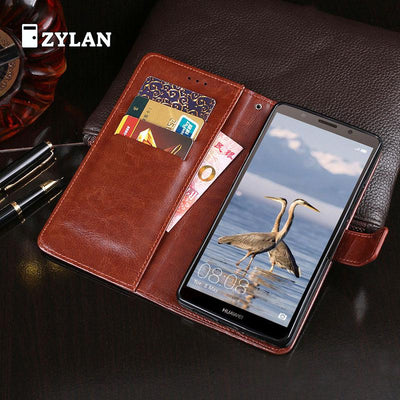 ZYLAN Leather Case For Honor 7A DUA-L22 Premium Leather Wallet Flip Case For Huawei Honor 7A 7 A Honor7A Russian Version & GIFT