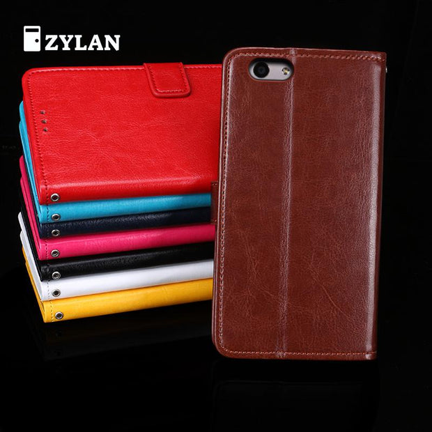 ZYLAN Leather Phone Case Ultra Thin Wallet Case Flip Cover For Oppo F1s / Oppo A59 A59s A59m + Pen + Strap