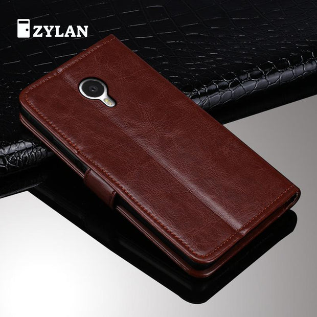 ZYLAN Luxury Cases For MEIZU MX4 Case Leather Cover For MEIZU MX4 Flip Cover Stand Shell Protector Card Slot & Free Gift