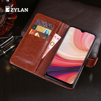 ZYLAN Luxury Flip Leather Case Cover Stand Wallet For OPPO A7 CPH1901 Phone Bag Capa For OPPO A7 CPH1901 + FREE GIFT