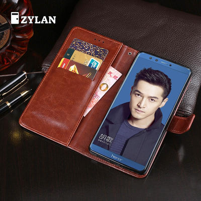 ZYLAN Luxury Leather For Huawei Honor 9 Lite Case Silicon Cover Flip Wallet Phone Cases For Huawei Honor 9 Lite High Quality