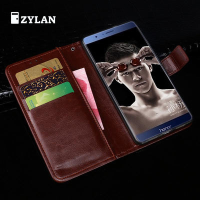 ZYLAN Luxury New Arrival Leather Case Cover For Huawei Honor 8 Pro/ Honor V9 DUK-L09 DUK-AL20 Black Brown /w Free Gift