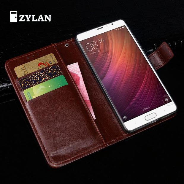 ZYLAN Luxury Wallet Case For Xiaomi Redmi Pro Book Flip Cover PU Leather Stand Phone Bags Cases For Xiaomi Redmi Pro /w Gift