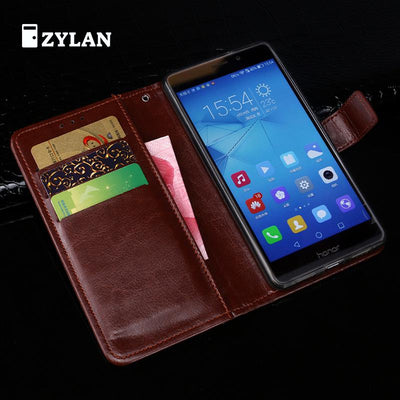 ZYLAN New Case For Huawei Honor 5C Euro Version NO Fingerprint Hole Case Wallet Flip Leather Case For Huawei Honor 5C /w Gift