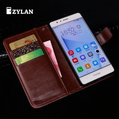 ZYLAN New Case For Huawei Ascend Honor 8 Cover Back Cover Stand Flip Leather Case For Huawei Honor8 Cases /w Free Gift