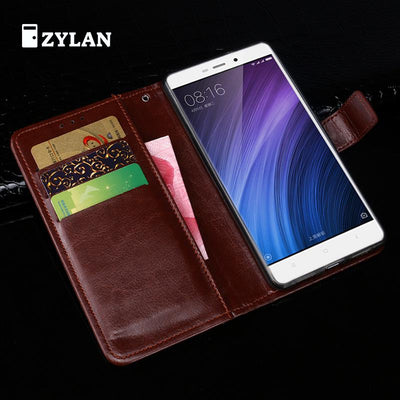 ZYLAN Xiaomi Redmi 4 Case Cover Basiness Luxury Flip Leather Case For Xiaomi Redmi 4 Standard 5.0 Wallet Phone Bags Case