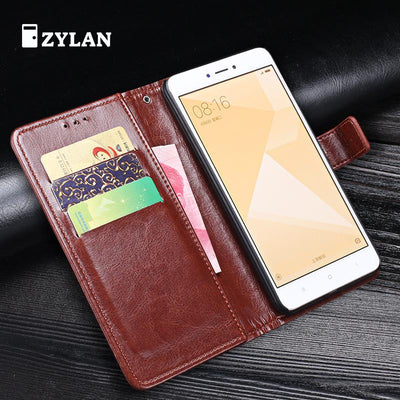 ZYLAN Xiaomi Redmi Note 4X Case Redmi Note 4X Cover Flip Stand Leather Wallet Case For Xiaomi Redmi Note 4X +Stylus +Rope