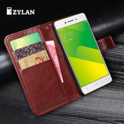 ZYLAN For Fundas Oppo A37 Card Holder Cover Case For Oppo A37m Leather Phone Case Ultra Thin Wallet Flip Cover & Gift